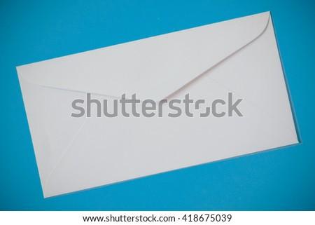 White envelopes texture background with filter effect retro vintage style - stock photo