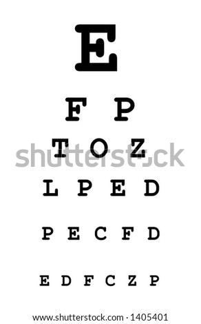 white eye test chart