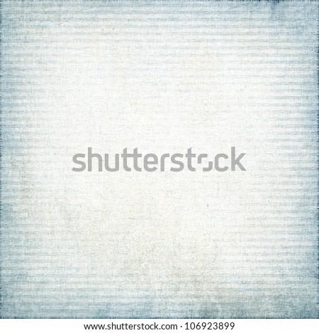 white fabric textile texture,with blue horizontal stripes grunge background - stock photo