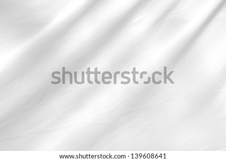 White fabric texture background - stock photo