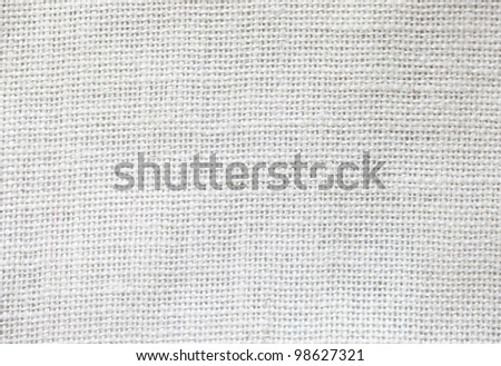 White fabric texture detail - stock photo