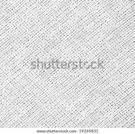 White fabric texture detail (high. res. scan) - stock photo