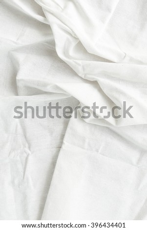 White fabric with wrinkle texture background