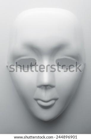 White face mask - stock photo