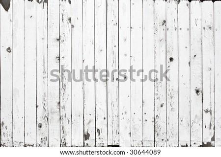 White fence background - stock photo