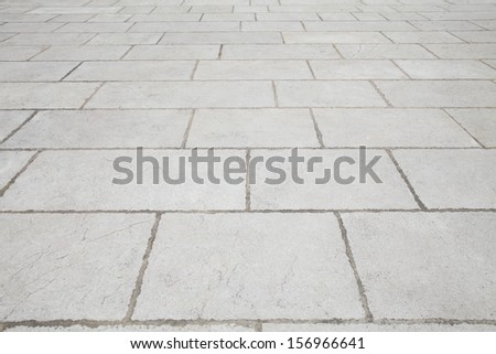white flagstone pavement background or grey tiling texture - stock photo