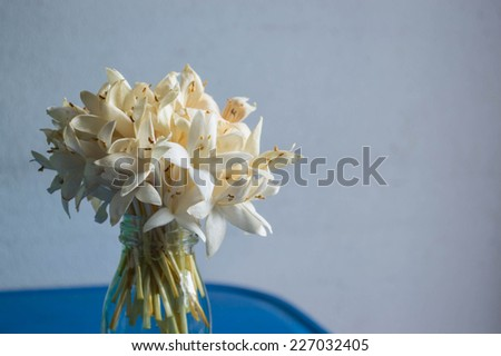 White flower in the bottle