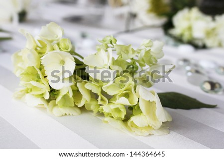 White flowers at a wedding