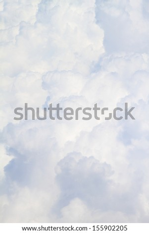White fluffy clouds full size close up background - stock photo
