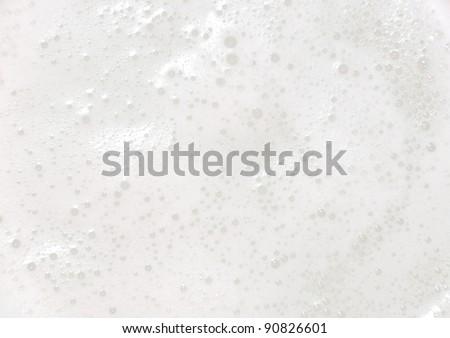 White foam - stock photo