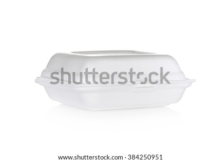 white foam box isolated on white use for multipurpose - stock photo