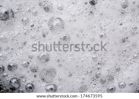 White foam with some bubbles  - stock photo