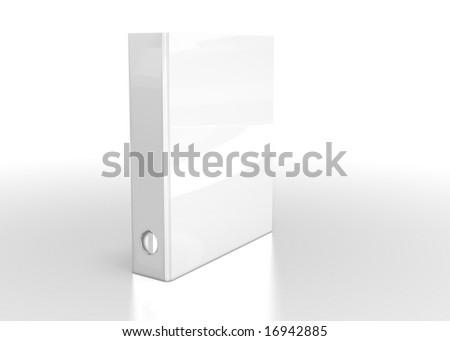 white folder on white background - stock photo
