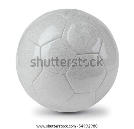 White football. Isolated - stock photo