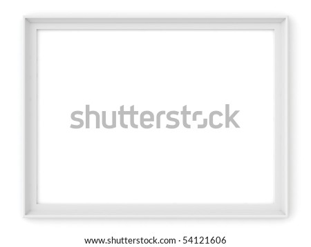 white frame - stock photo