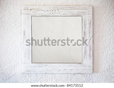 White frame background - stock photo