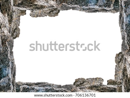 White Frame Background Decorated Rock Borders Stock Photo (Edit Now ...