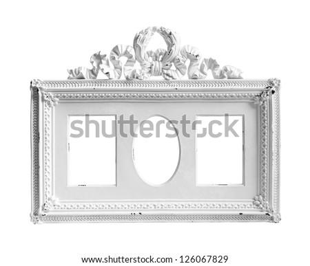 White frame on white background. - stock photo