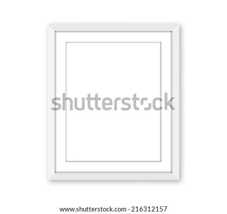 white frame with white background sized to fit 8x10
