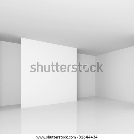 White Gallery Interior - stock photo