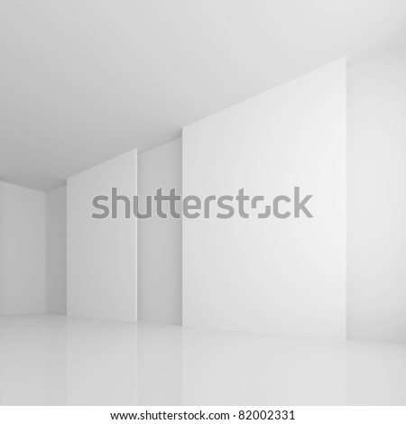 White Gallery Room - stock photo