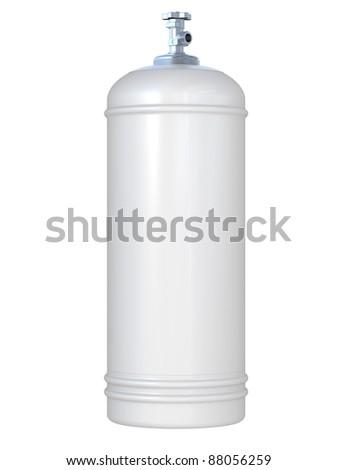 white gas balloon isolated on a white background - stock photo