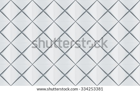 white geometric pattern background. seamless - stock photo