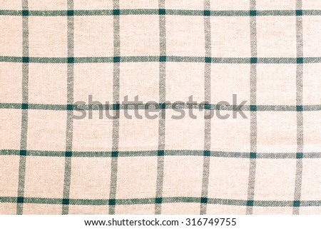 White gingham fabric for background. Toned.