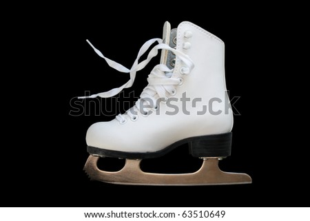 White girl's figure skate - stock photo