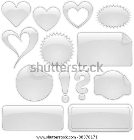 White Glass Shapes - stock photo