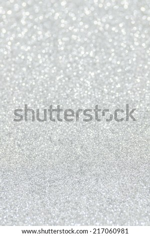 white glitter christmas abstract background - stock photo