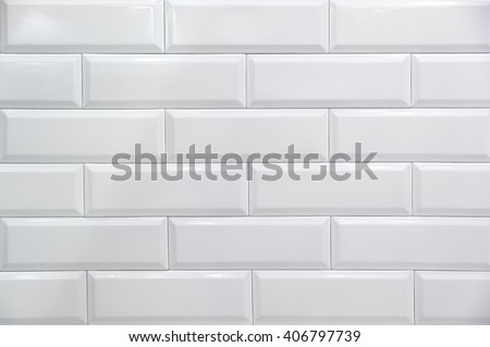 White , glossy , ceramic tile, background, texture - stock photo