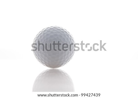 white golf ball as white isolate background