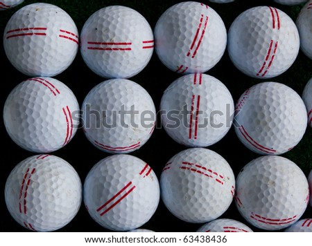 White golf balls - stock photo