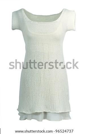 white gown - stock photo