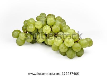 white grape on white background - stock photo