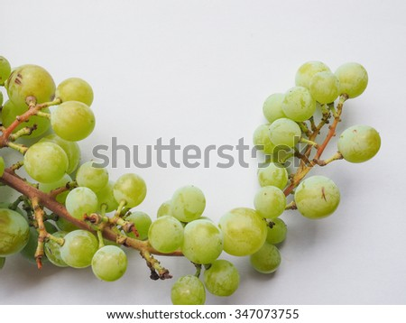 White grape (Vitis vinifera) fruits, healthy vegetarian food - stock photo