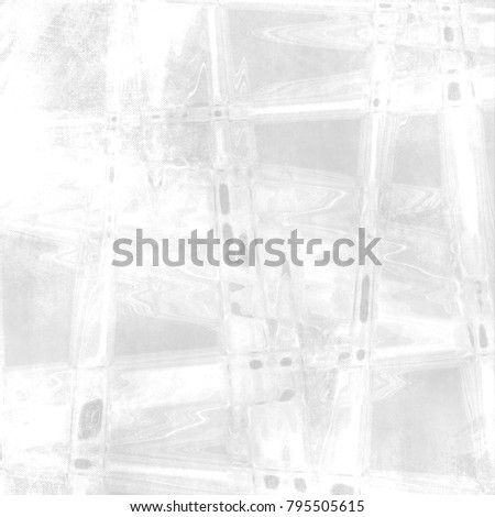 White gray watercolor background with abstract pattern