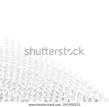 white & grey abstract  background - stock photo
