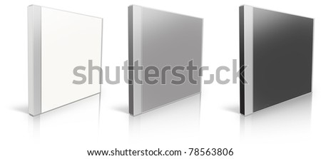 White, grey and black blank cd case - put your own design on it! - stock photo