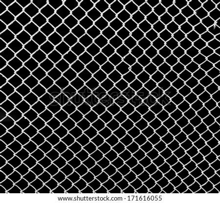 white grid on a black background - stock photo