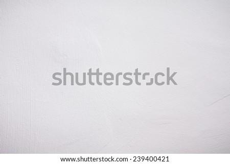 White Gypsum Wall Texture - stock photo