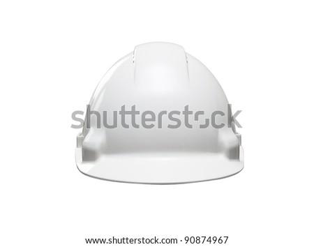 White Hat isolated on white - stock photo