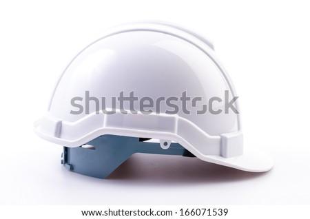 White helmet on isolated white background - stock photo