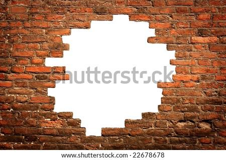 White Hole Old Wall Brick Frame Stock Photo (Royalty Free ...