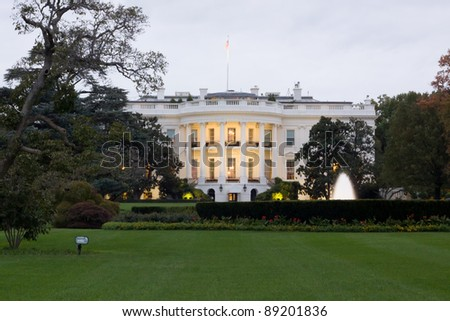 White House and lawn in Washington DC - stock photo