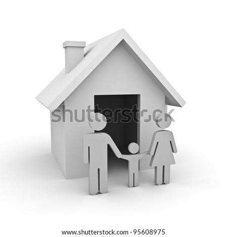 White house family concept - stock photo