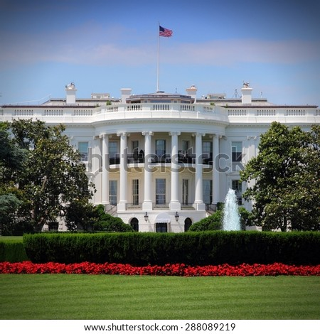 White House in Washington, DC. - stock photo