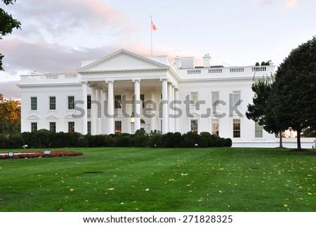 White House in Washington, DC, USA. - stock photo