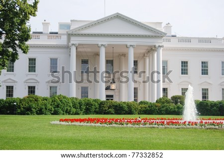 White House in Washington DC, USA - stock photo